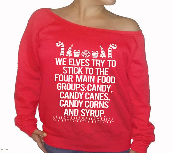 Ugly Sweater Christmas Sweater Buddy Elf Candy Canes Christmas