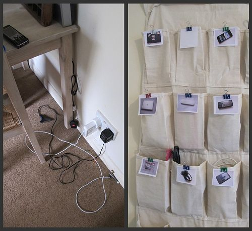How To Organize Cords And Chargers