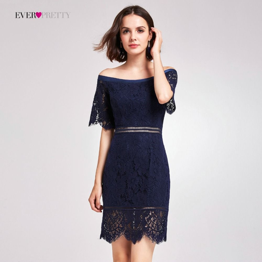 Cocktail Dresses Ever Pretty Women Off Shoulder Lace Cheap High Waist  Cut-out Short Modern Sexy Evening Party Dresses Price  62.55   FREE Shipping    ... 1754d2d1dae2