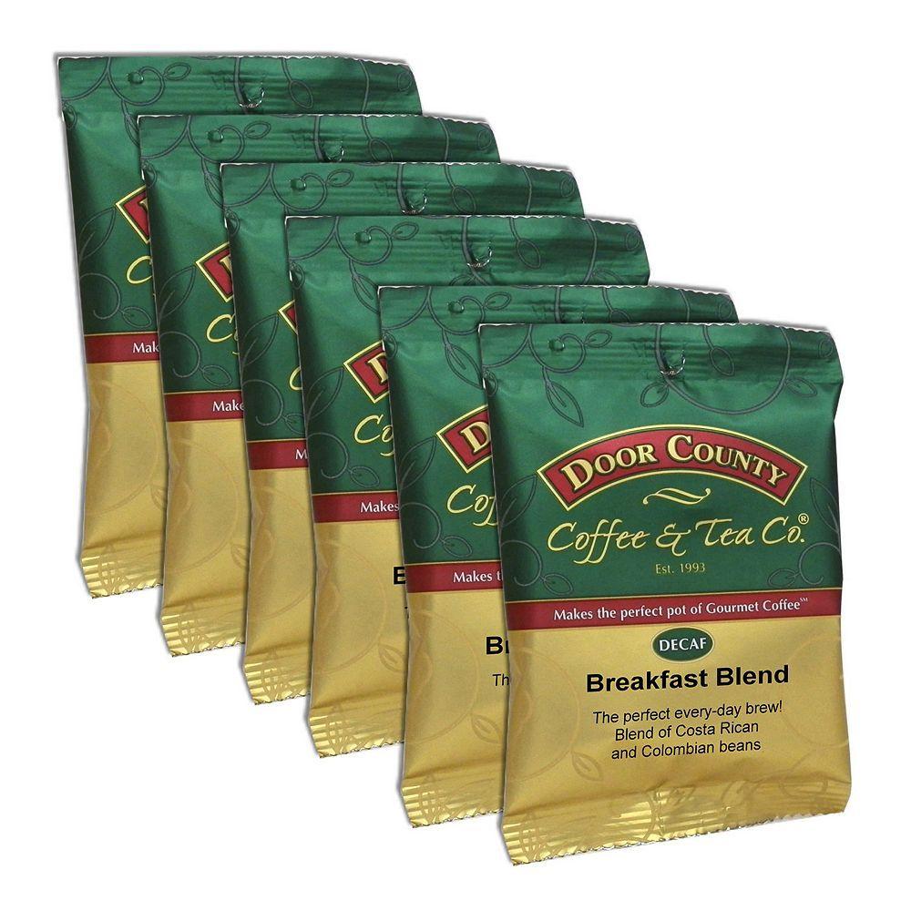 Door county coffee decaf breakfast blend ground coffee 6