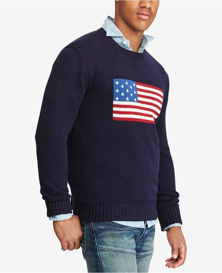 In Cotton Polo 2019 American Ralph Lauren Flag Men Sweater qSUzVMp