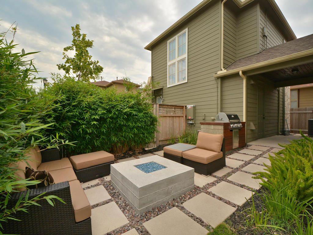 Outdoor Oasis | Fire Pit | Concrete Step Stones | Mueller Homes Austin Texas  | Mueller