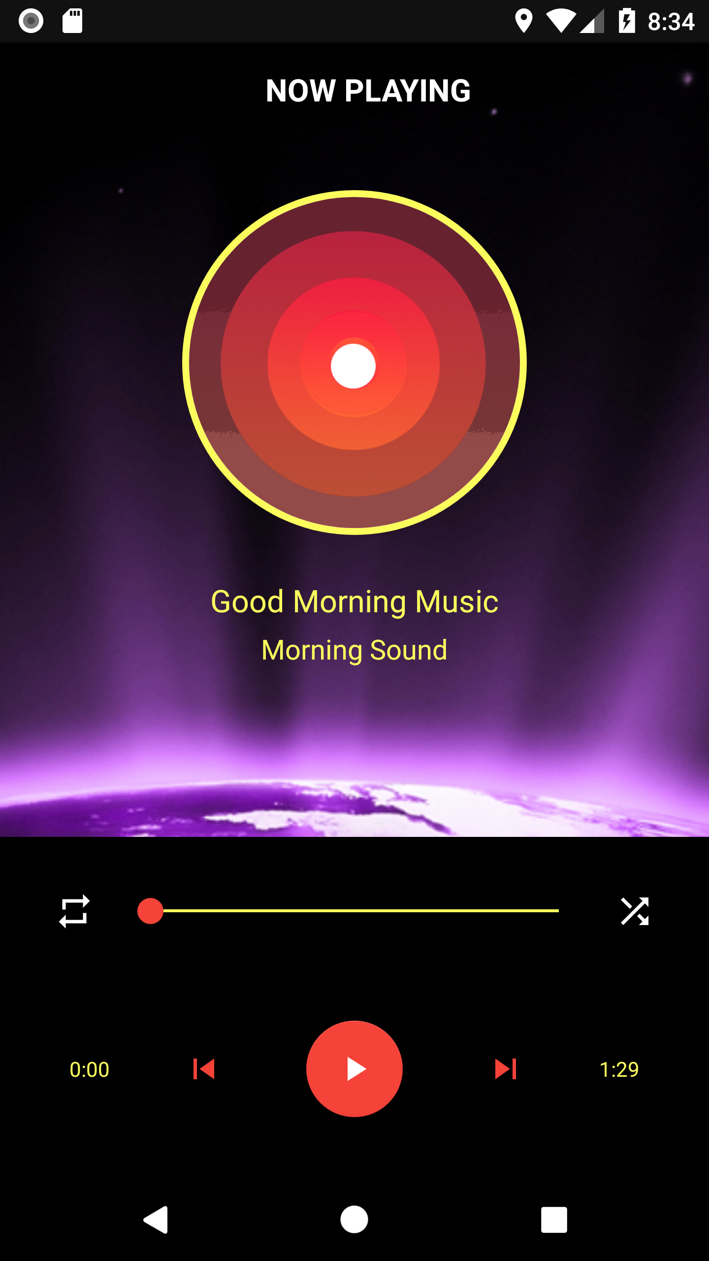 Android Music Player Music player design, Music player