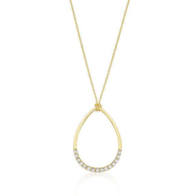 Gold Teardrop Necklace  Get it at: https://www.eternalsparkles.com/