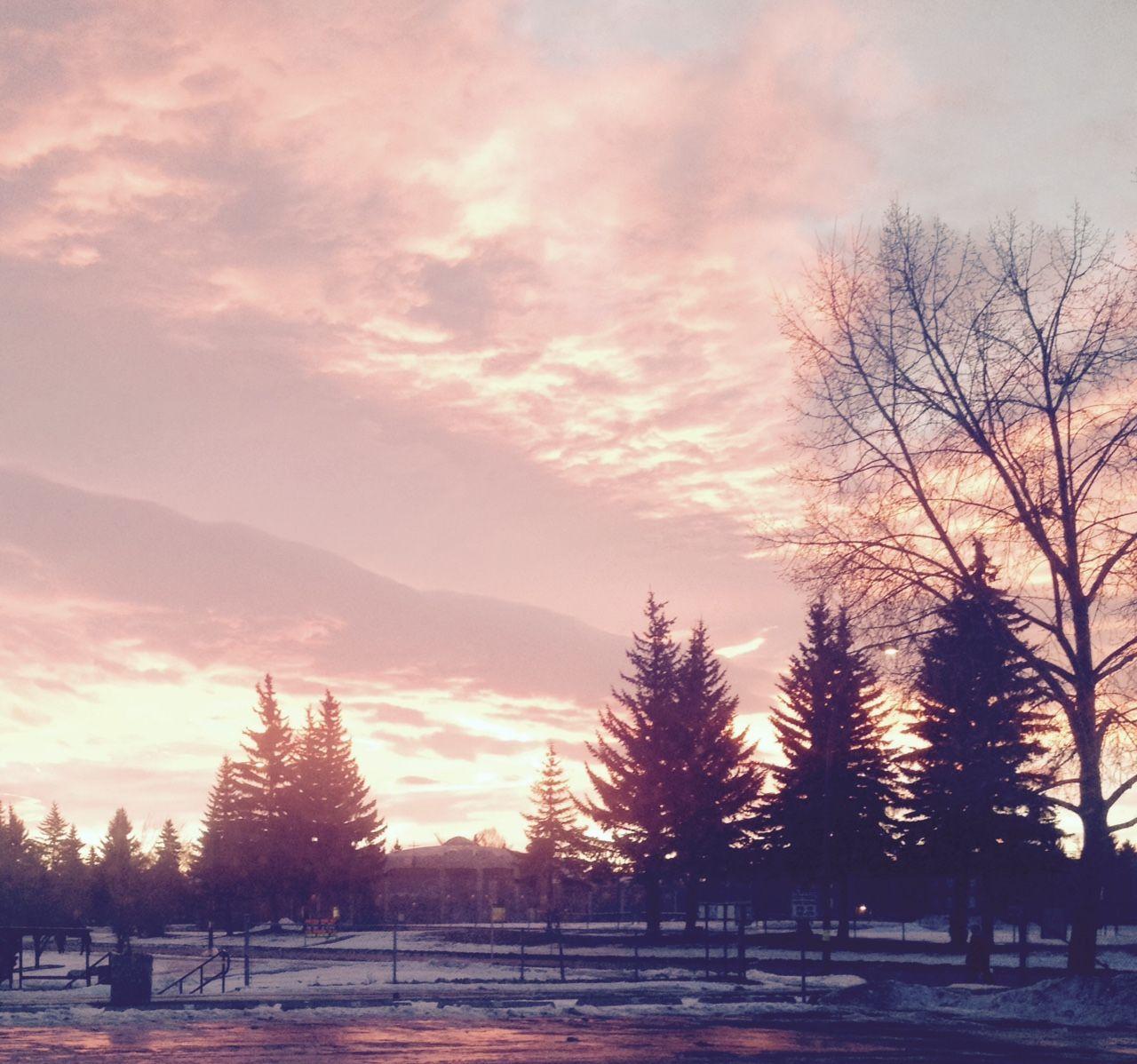 sunrise taken from the student parking lot Sunrise