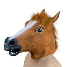 Wholesale Creepy Horse Head Latex Mask Face Rubber Mask for Halloween Festival