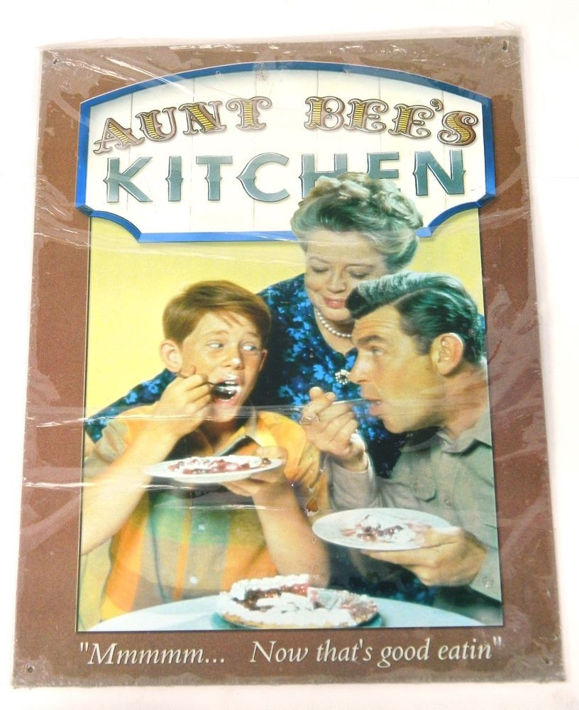 Andy Griffith Show Tin Sign Aunt Bees Kitchen Metal Wall Decor ...