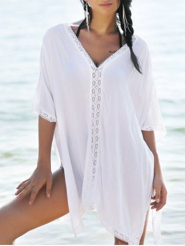 Bohemian Cover-Up With Lace Trim Cover-Ups & Kaftans | RoseGal.com Mobile