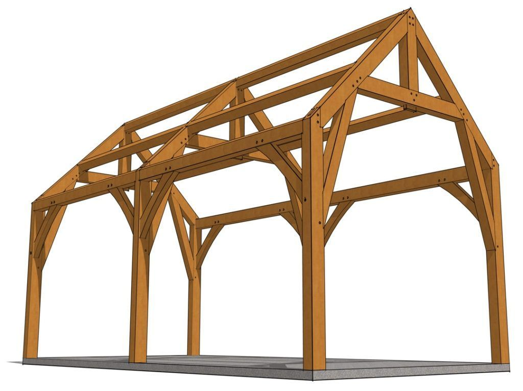 12x24 Gothic Arch Pavilion Timber Frame Hq In 2020 Timber Frame Timber Post And Beam