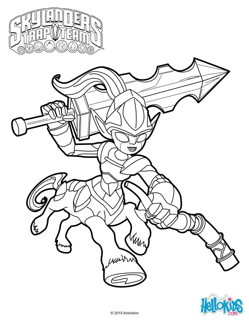 Knight Mare coloring sheet from Skylanders trap team video game ...