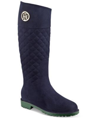 TOMMY HILFIGER Tommy Hilfiger Babette Quilted Rain Boots. #tommyhilfiger #shoes # all women