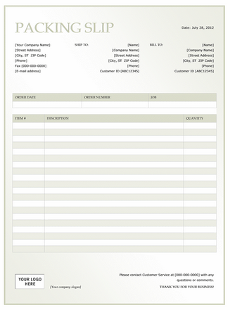 Shipping Packing List Template Packing list template