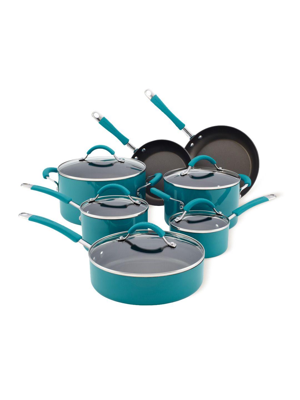 Aluminum Nonstick 12pc Cookware Set | Cookware set, KitchenAid and ...