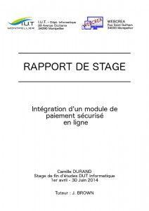 Exemple De Couverture D Un Rapport De Stage