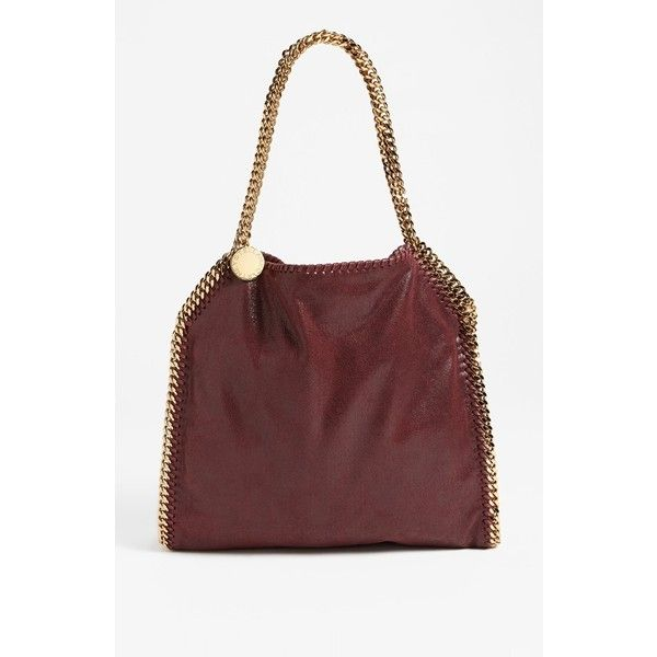 83fbdd21291 Women s Stella Mccartney  small Falabella - Shaggy Deer  Faux Leather...  (4,200 ILS) ❤ liked on Polyvore featuring bags, handbags, tote bags, plum,  ...