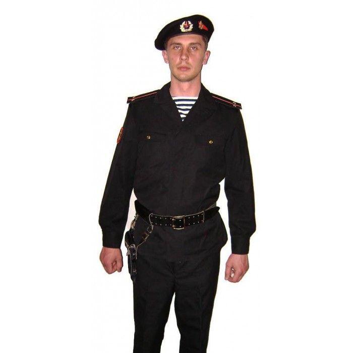 Black Uniform Star Russian Military General Hat Dictator