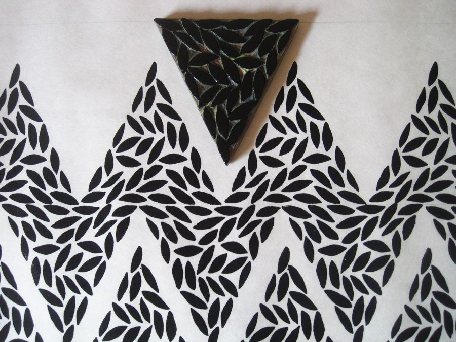zig zag block print irene shade4 block prints. Black Bedroom Furniture Sets. Home Design Ideas
