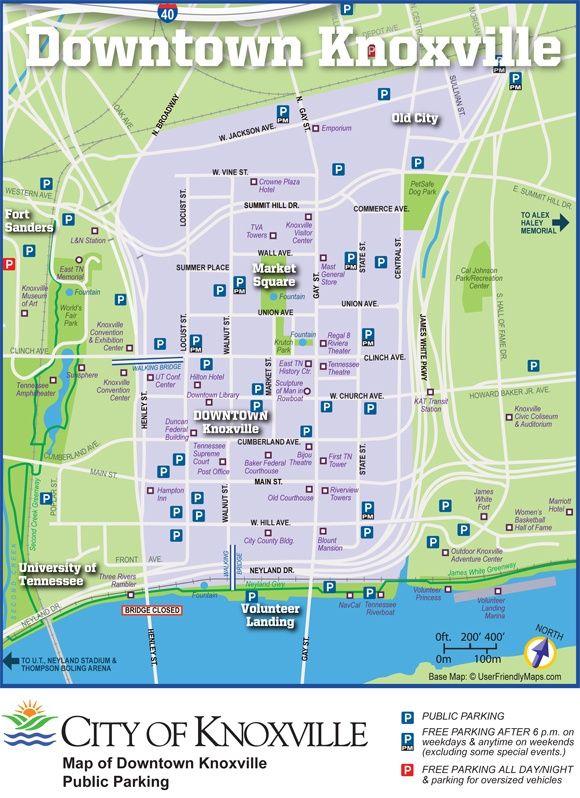 Maps Knox Tn