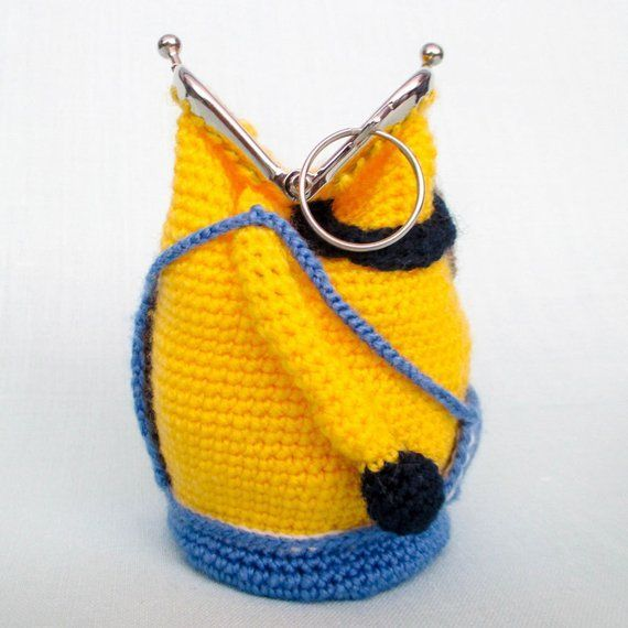 Amigurumi Crochet Pattern Purse Minion Crochet Purse Pattern | Etsy #minioncrochetpatterns Amigurumi Crochet Pattern Purse Minion Crochet Purse Pattern | Etsy #minioncrochetpatterns