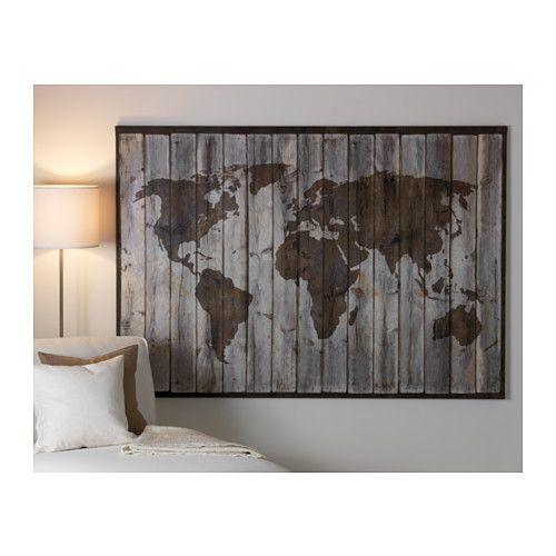 premi r reproduction planisph re toile eff bois flott travaux diy pinterest murs de l. Black Bedroom Furniture Sets. Home Design Ideas