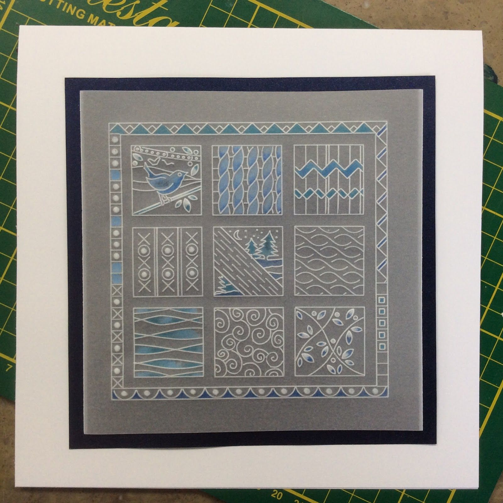 Meadow Grass Plate And Lace Border Groovi Card Created By Jan