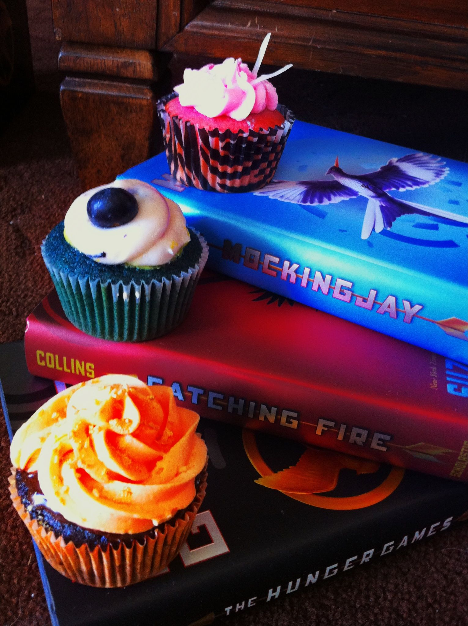The Hunger Games Cupcakes Girl On Fire Chili Chocolate Cupcake