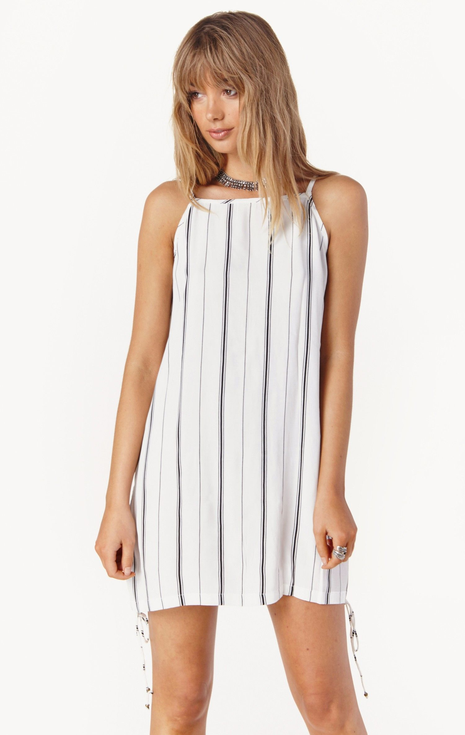 August Dress By Faithfull The Brand Planet Blue With
