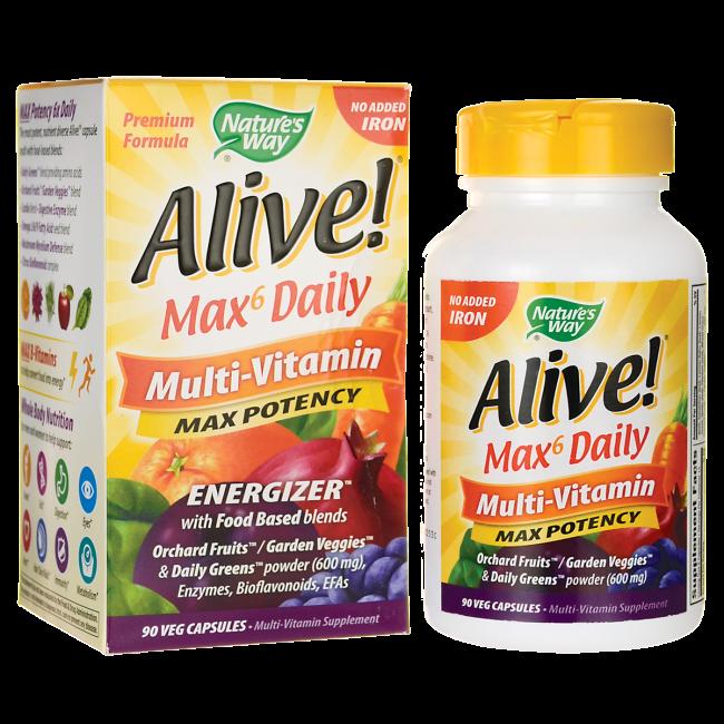 alive max6 daily multivitamin 90 veg caps sexual health sleep
