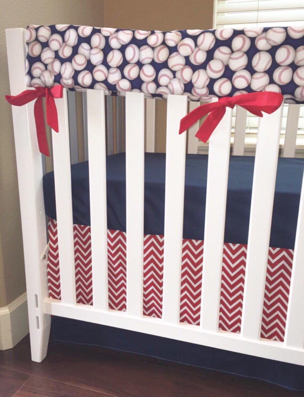 Baby Boy Cribs: Sports Baseball Crib Bedding,Boy Baby Bedding,Crib Set,Red