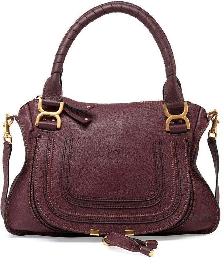 80f554d4524cb Chloe Marcie Medium Satchel Bag, Bordeaux   Bags   Bags, Chloe bag ...