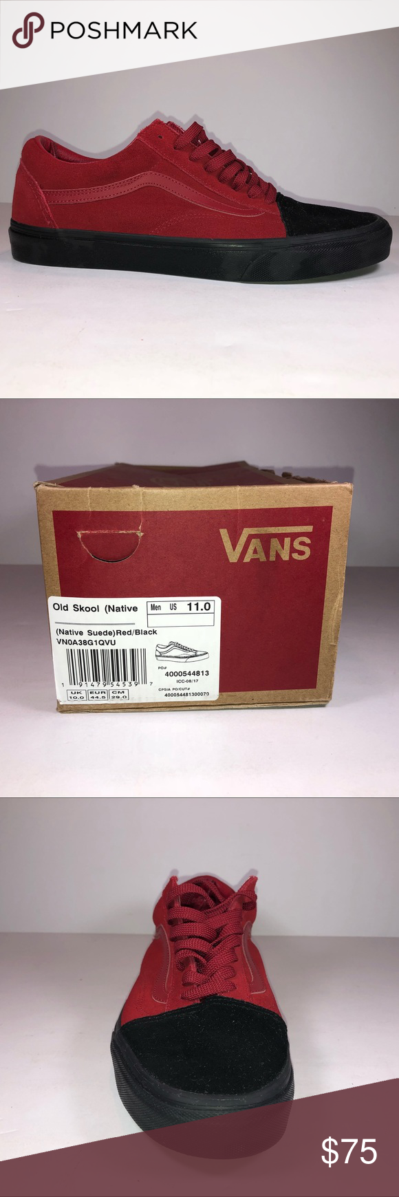 003cbb6b02 I just added this listing on Poshmark  Vans Old Skool Native Suede Red    Black Sneakers.  shopmycloset  poshmark  fashion  shopping  style  forsale   Vans   ...