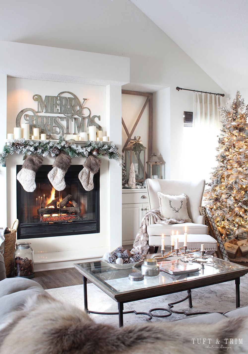 Elegant Christmas Home Tour: Rustic & Neutral Decor  Idee deco