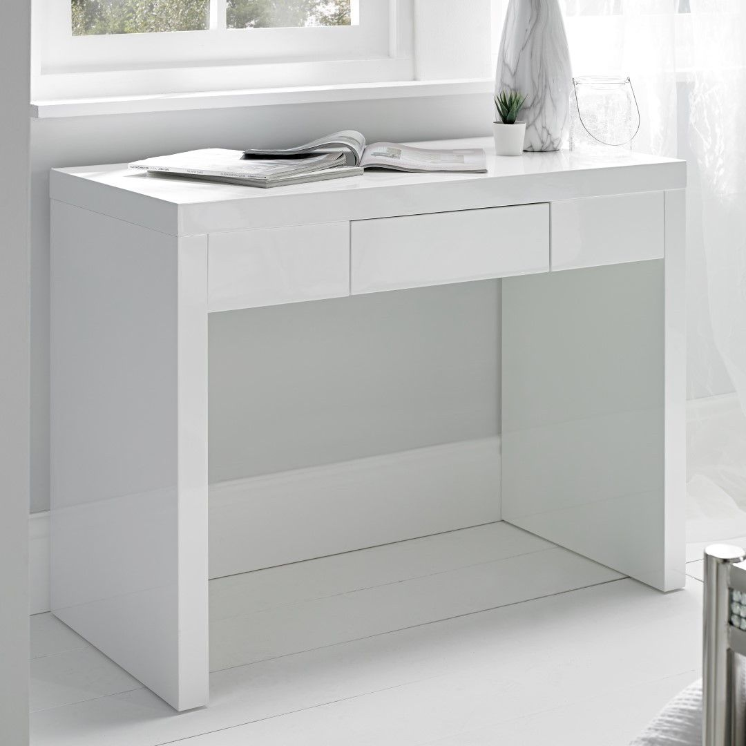 Puro White Desk Dressing Table White Dressing Tables White Desk Dressing Table White Desks
