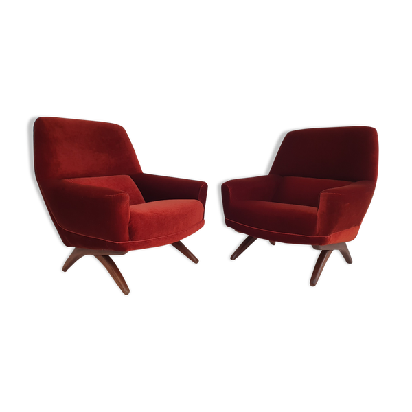 Photo of Danish armchairs by Leif Hansen from the 60s