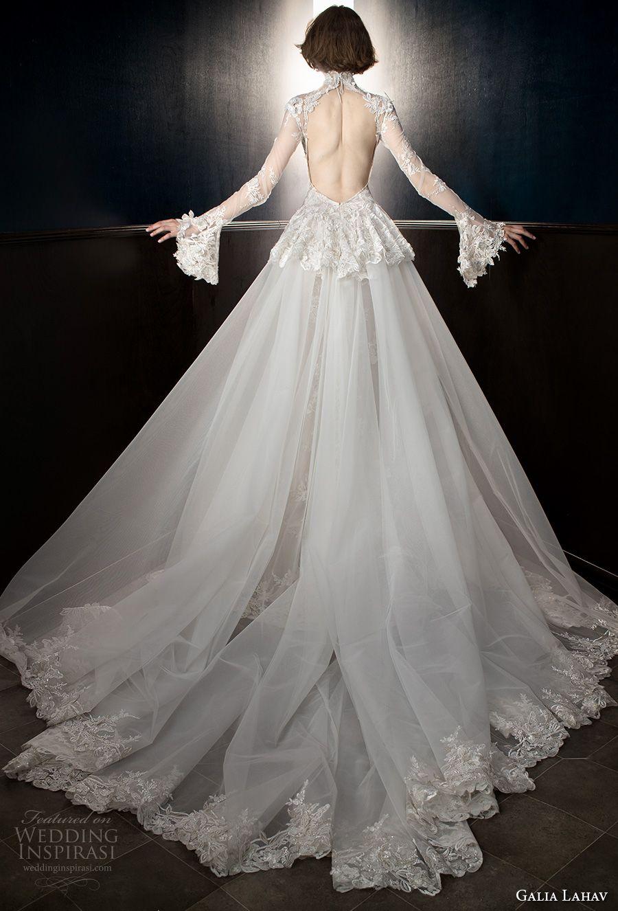 Galia lahav spring bridal long sleeves sheer high neck