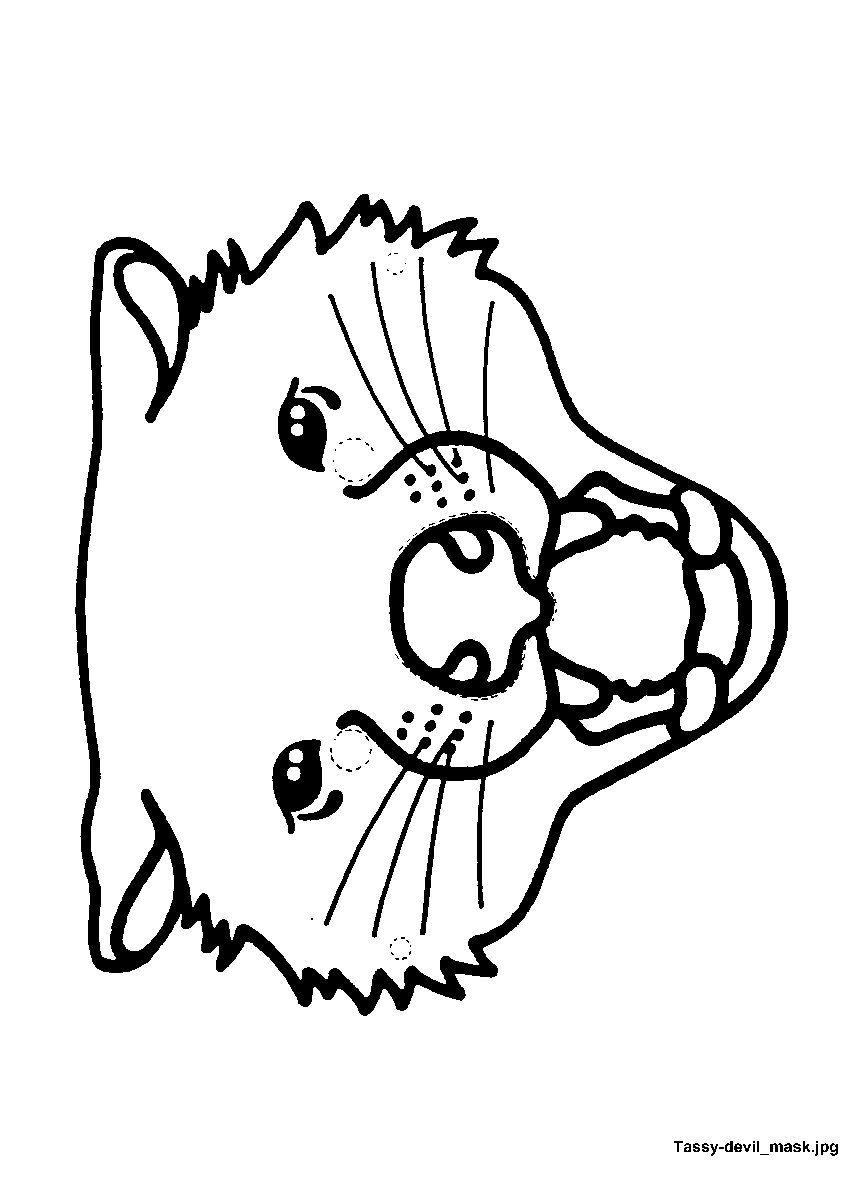 mask tassy devil jpg 865 1 177 pixels kids pinterest pre