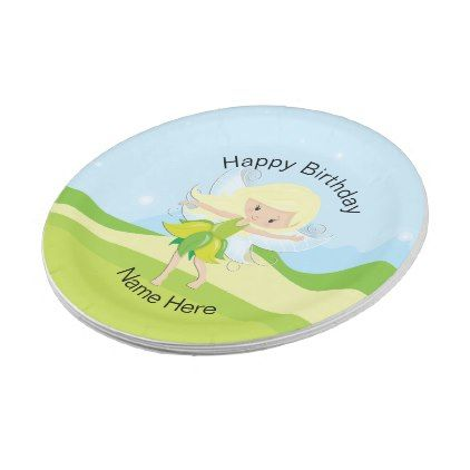 Cute Dancing Fairy Nymph Personalized Paper Plate - kitchen gifts diy ideas decor special unique inidual  sc 1 st  Pinterest & Cute Dancing Fairy Nymph Personalized Paper Plate - kitchen gifts ...