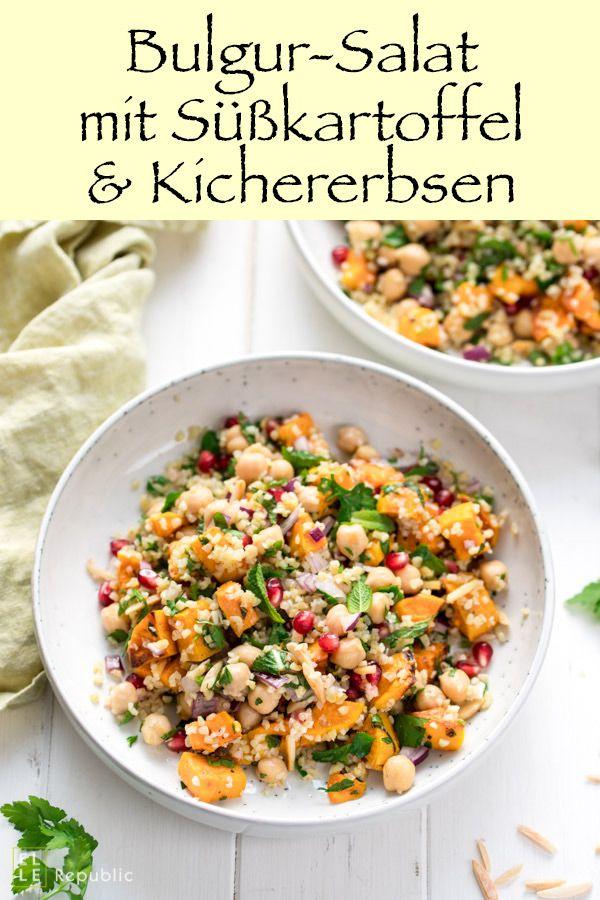 Bulgur-Salat mit Süßkartoffel und Kichererbsen Rezept | Elle Republic