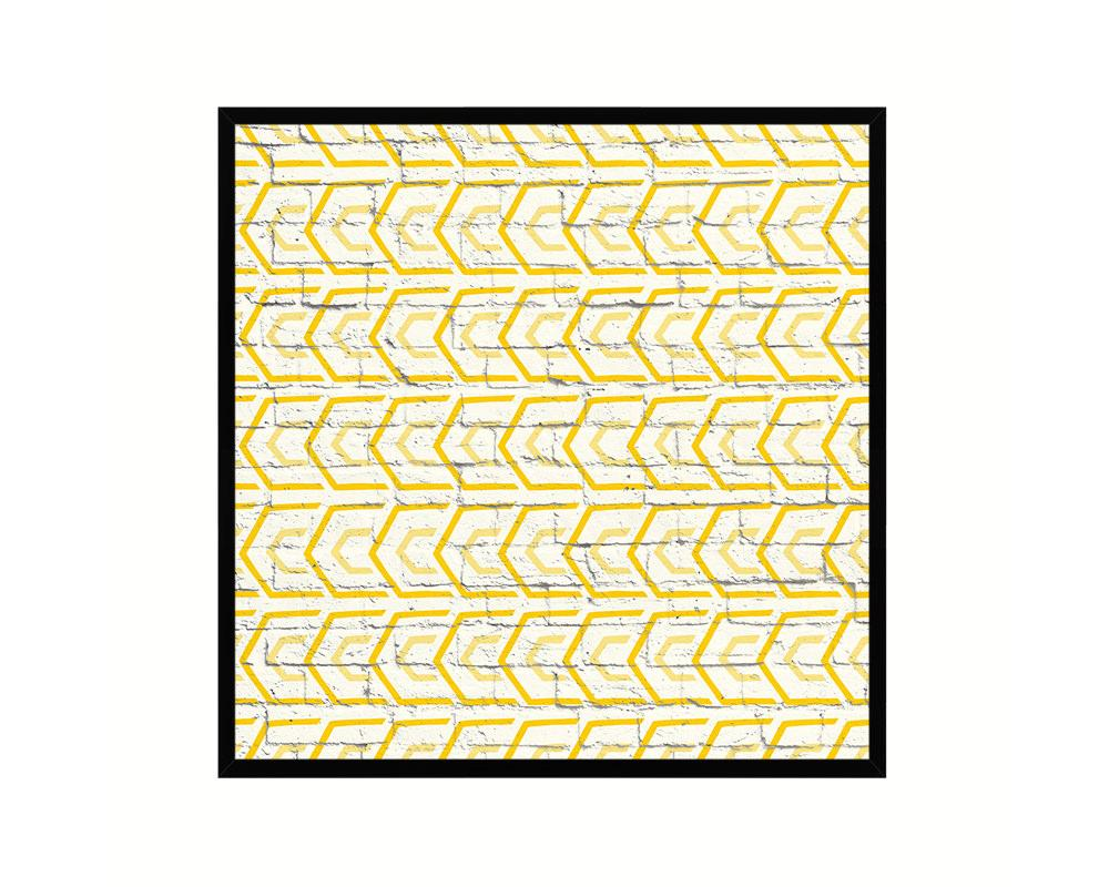 Photo of Abstract Yellow Artwork Wood Frame Gifts Modern Wall Decor Art Prints – 12 x 12