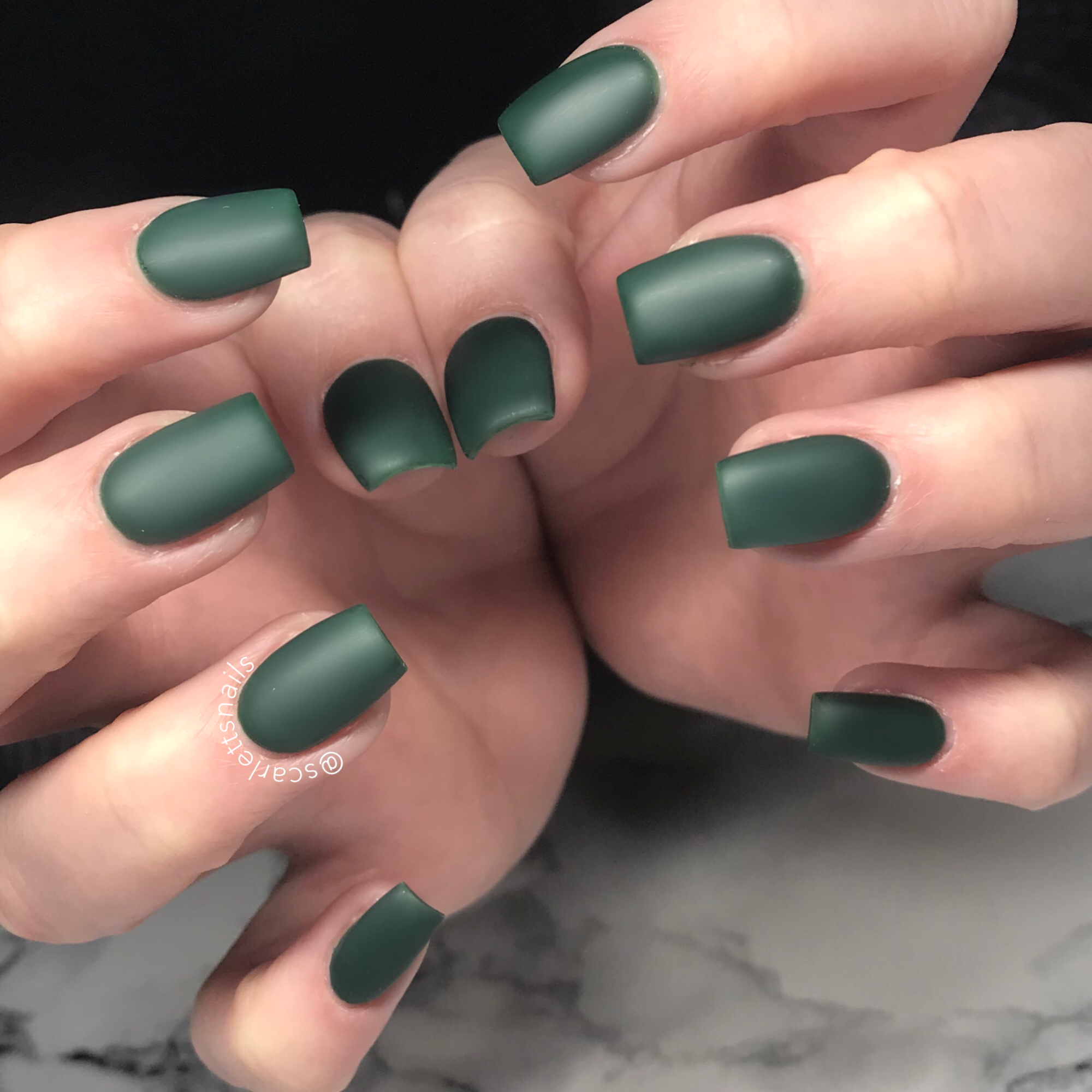 scarlettsnails matte army camouflage green gel nails | Nails ...