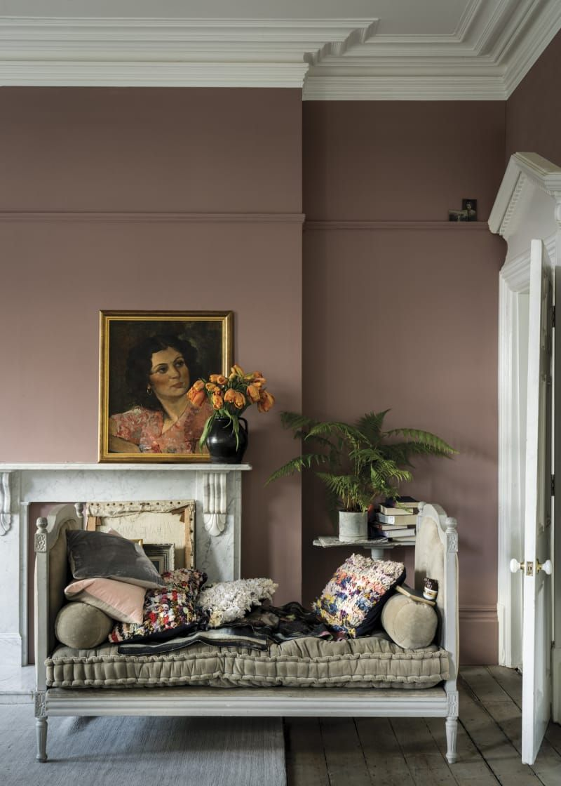 Sulking room pink no taking its name from the french word boudoir which means  csulking place   blush may just have power also new farrow and ball paint colors september antique with rh pinterest