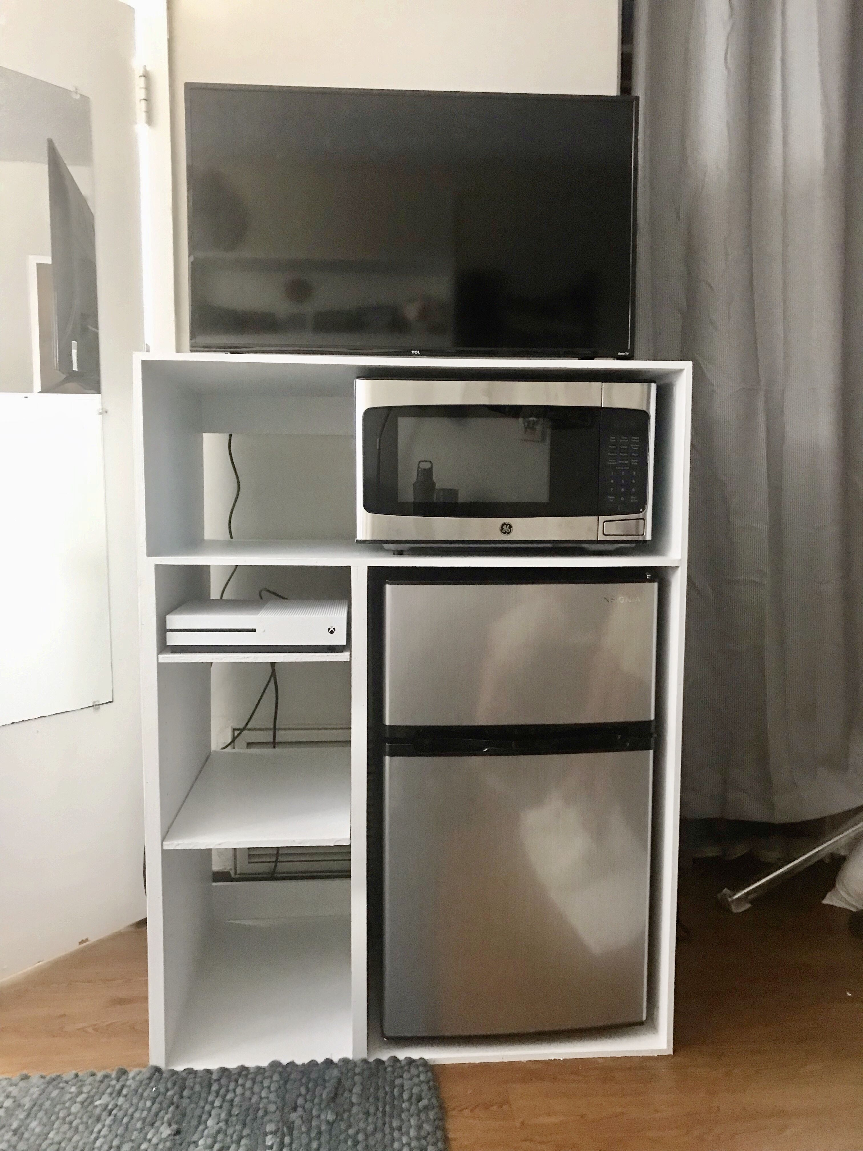College Dorm Room Decor, Mini Fridge Cabinet For Dorm Room