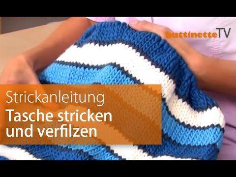 anleitung tasche stricken und filzen youtube video pinterest stricken tasche stricken. Black Bedroom Furniture Sets. Home Design Ideas