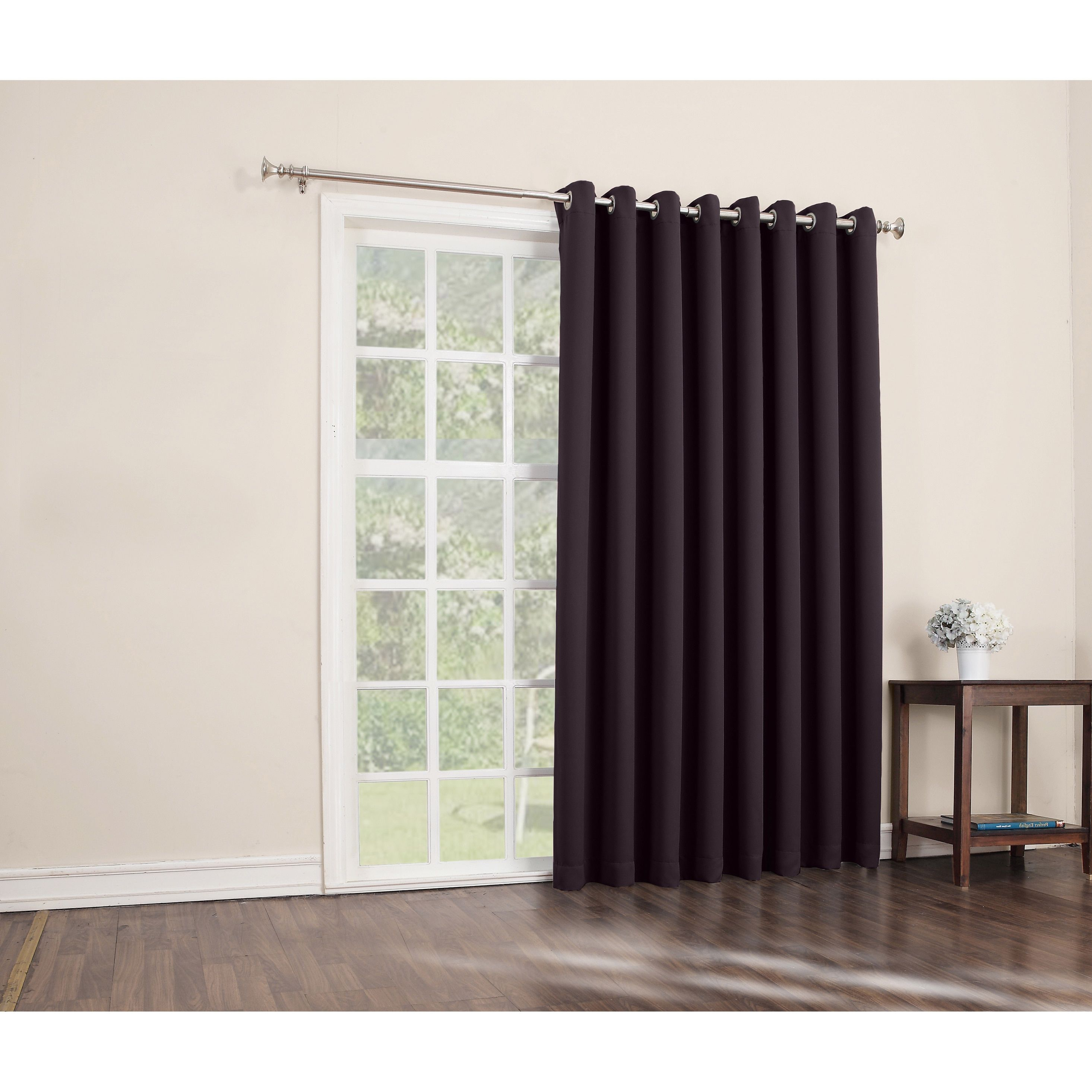 Sun Zero Hayden Grommet Blackout Patio Door Window Curtain