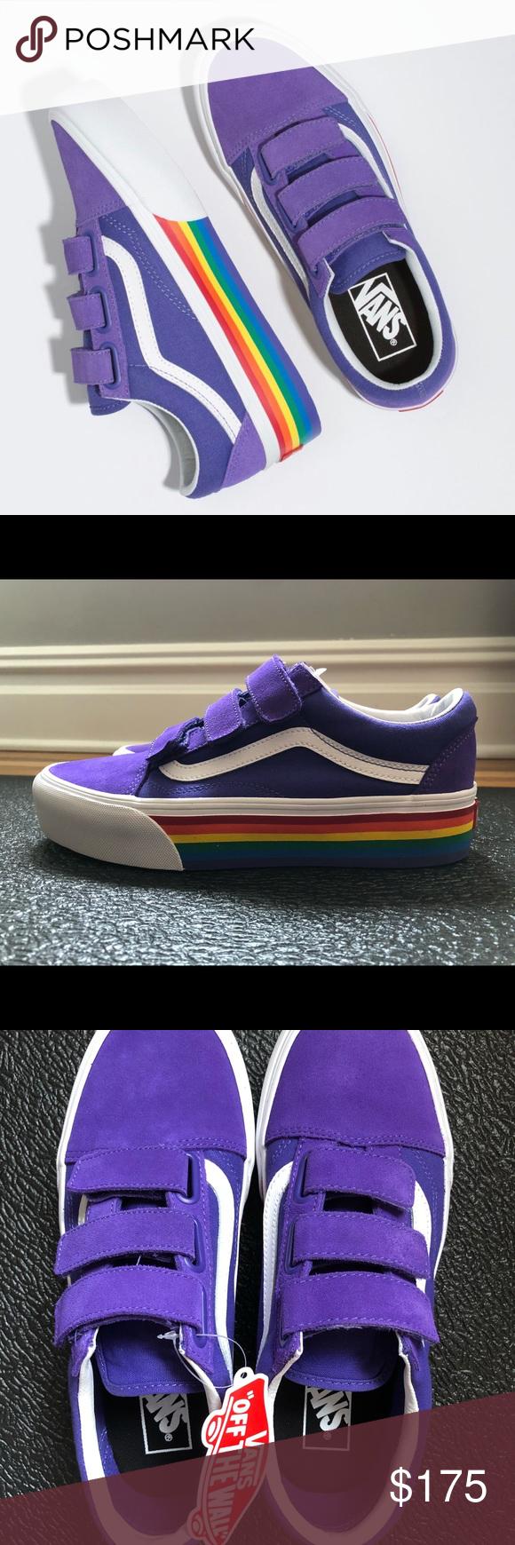 VANS Old Skool V Platform Rainbow Pride WORN ONCE