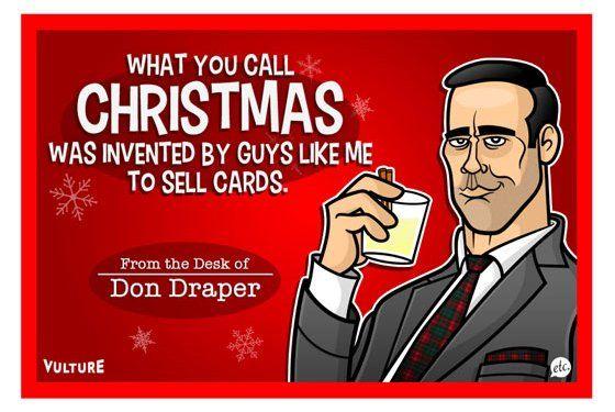Mad Men, Breaking Bad, Walking Dead Xmas Cards -- Vulture