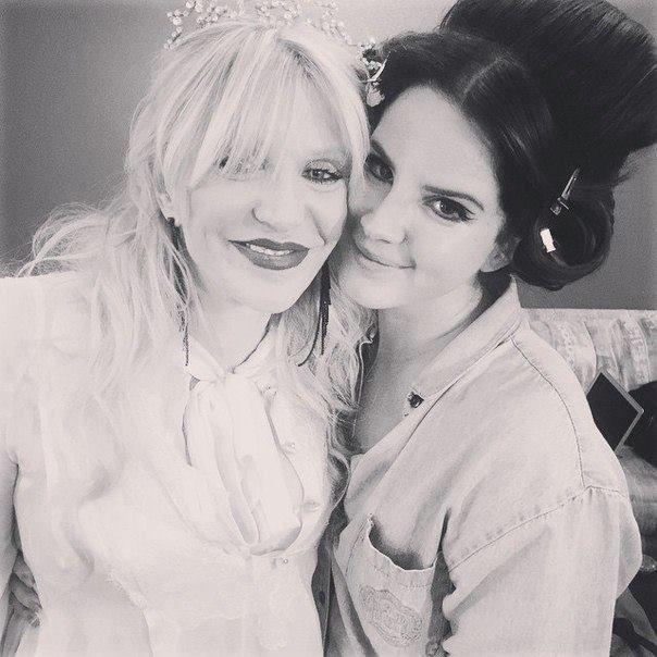 Lana and Courtney Love