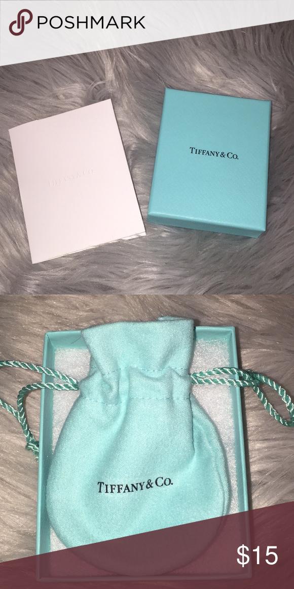 Tiffany Co small jewelry box and duster bag really cute Tiffany