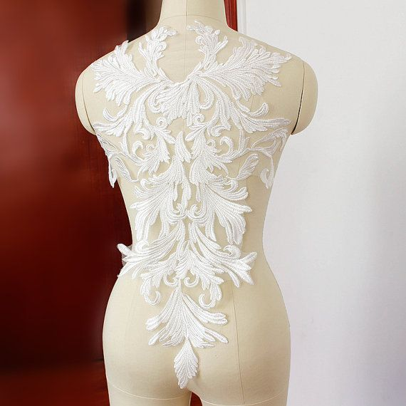 Hey i found this really awesome etsy listing at https for Wedding dress appliques suppliers