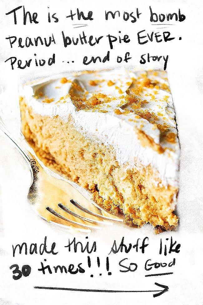 Easy Peanut Butter Pie Recipe - Best No Bake Peanut Butter Pie!